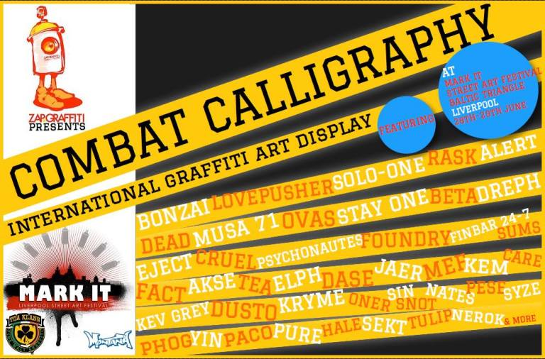 combat calligraphy at mark it liverpool 2014
