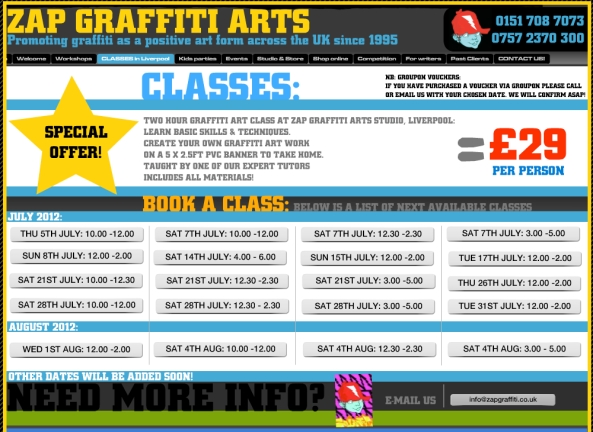 graffiti classes in liverpool
