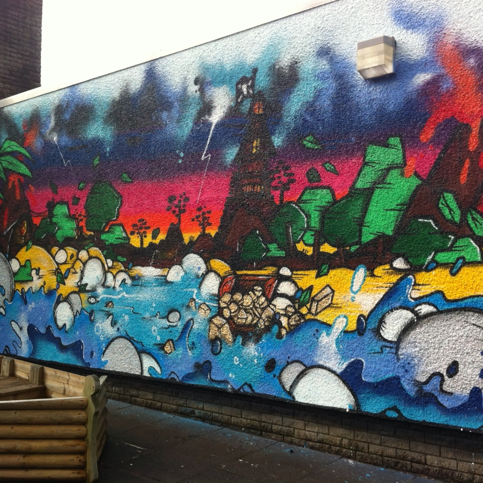 New mural at carruthrstown primary