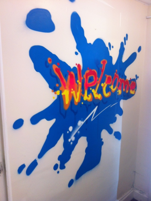 ZAP GRAFFITI ART WORKSHOP CORE SERVICES MURAL WELCOME LIVERPOOL