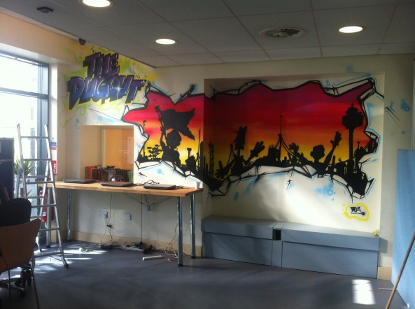 ymca birkenhead wirral zap graffiti mural workshop