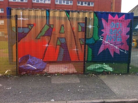 ZAP graffiti arts workshop adventure play anfield workshop container